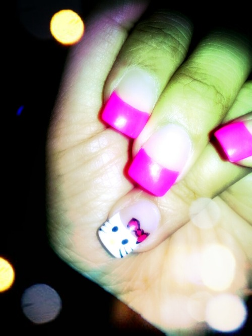Got my nails done. My Bday gift from my love :)