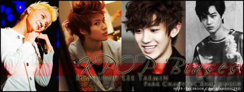 "My top 4? KPOP Biases.? haha but Junsu is the love of my life! :"">  TVXQ's Kim Junsu SHINee's Lee Taemin EXO's Park Chanyeol && Kim Jong In wahahaha.. I dunnie.. but I have so many biases in KPOP! ^^ they are maybe my top 4! xD HAHAHA!! :))"