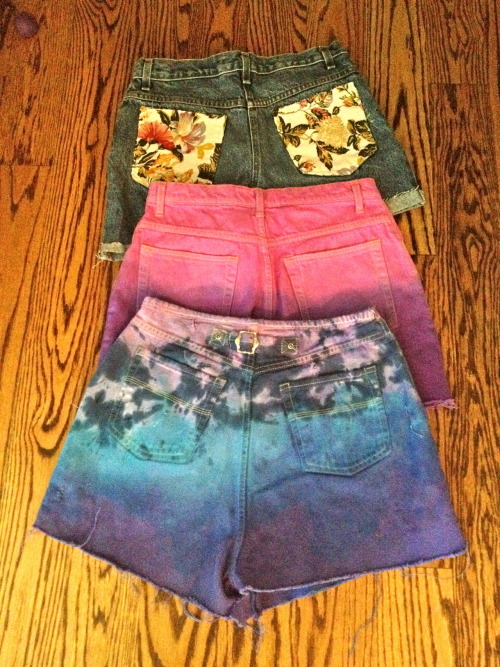Hey everybody! Visit my Etsy page and order a pair of good quality shorts for cheap! I can make them in any size and any color.  Etsy: http://www.etsy.com/shop/Dyedmarie?ref=shop_sugg