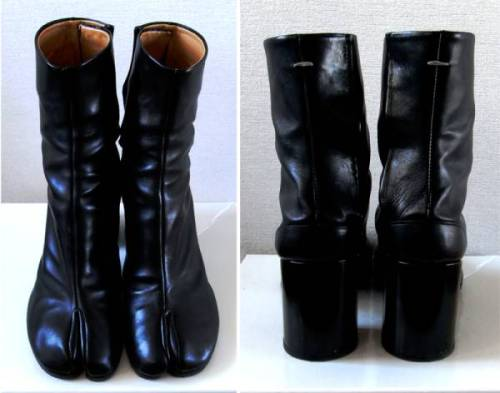 lacollectionneuse:  classic tabi boots (eu sz 41) • martin margiela79,000 円   I STILL WANT TO BE MR. TUMNUS!