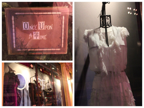 Costumes and props from ABC's Once Upon A Time are currently on display in the window display of Off the Page at Disney California Adventure.   I Know You, I Watched You On TV Once Upon a…- Off the Page in Hollywood Pictures Backlot at Disney California Adventure - taken June 1, 2012.