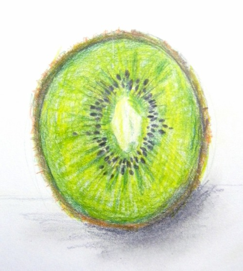 """Kiwi"" colored pencil"