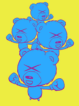 My adorable boxing bears in pink and blue this time. my soti t shirt shop