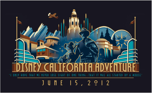 Disney California Adventure, logo for new merchandise.