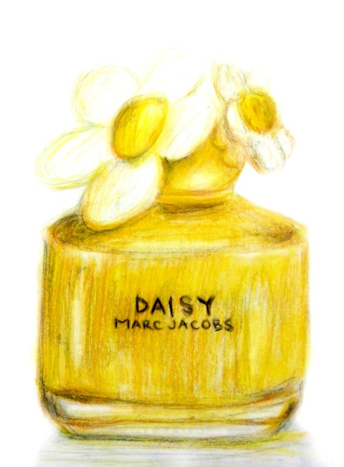 """Daisy by Marc Jacobs"" colored pencil"