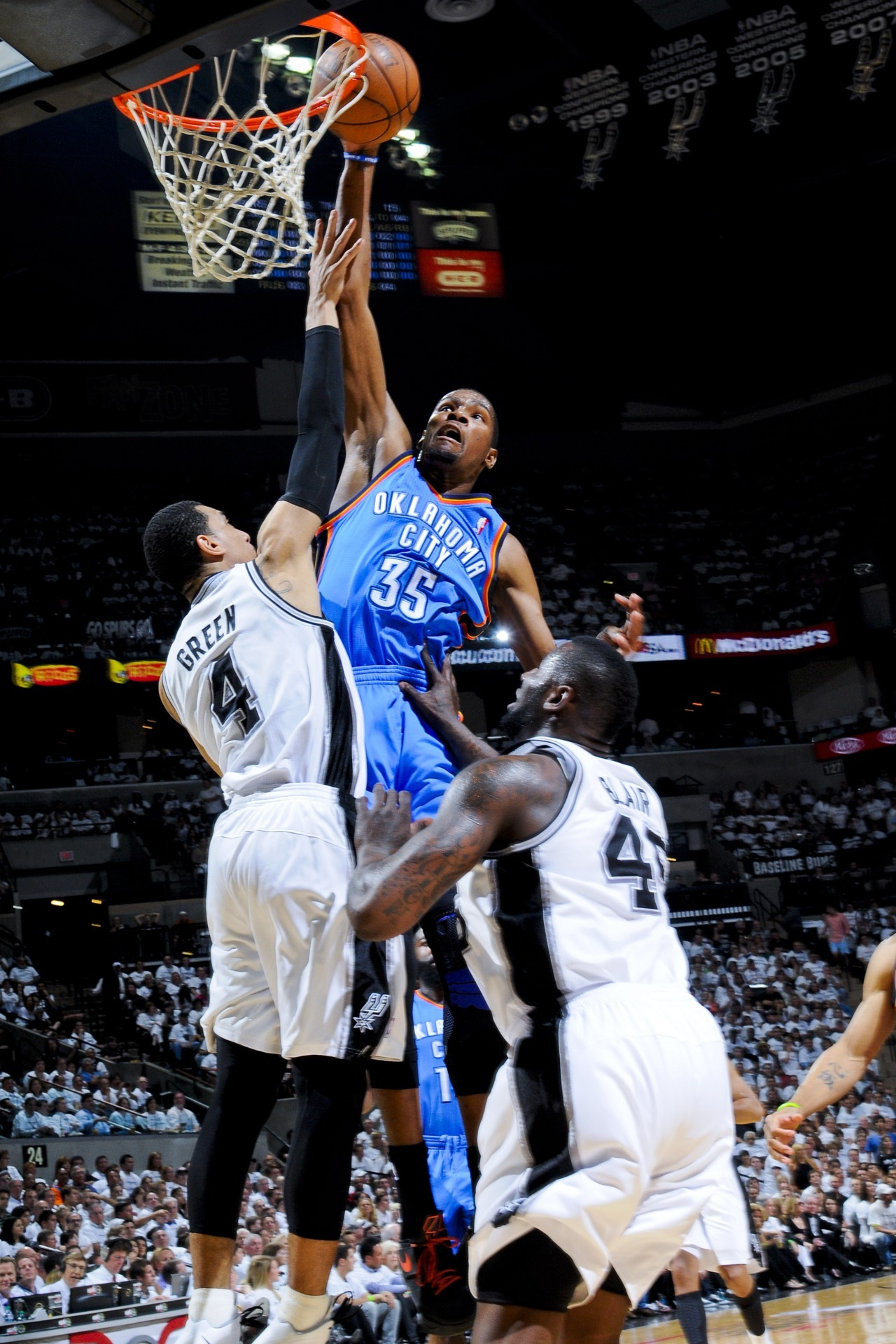 "FINAL: Thunder 108, Spurs 103 ""That's how this Thunder team does it…guts, grit, and toughness."" 20 consecutive wins for the Spurs…and now three straight losses."