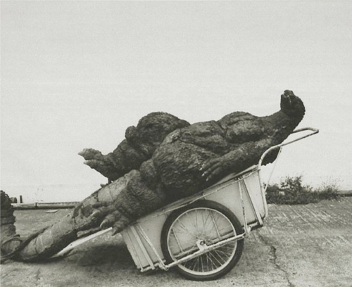 arcaneimages:  godzilla on a cart