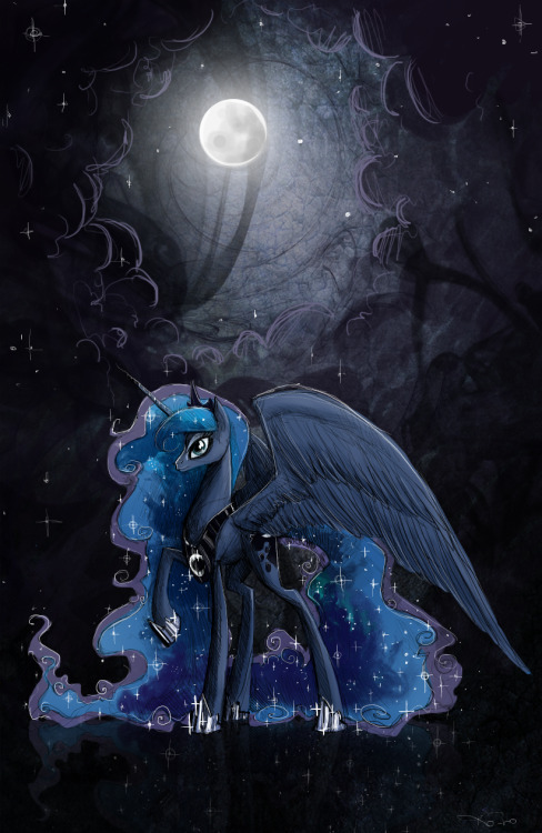 theponyartcollection:  Stars by ~NastyLady  And now I shall toddle off to enjoy her majesty's glorious nighttime.