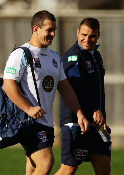 roscoe66:  Greg Bird and Anthony Watmough at Blues training