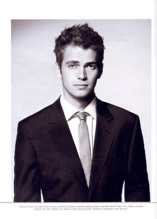 trafficcinthesky:  Hayden Christensen for Repubblica Delle Donne Magazine. January, 2008.