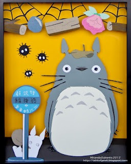 'My Neighbor Totoro' 3D paper sculpt! I finished this a few days ago and I am now selling 2D prints of it in my etsy shop! Please take a look :)  http://www.etsy.com/shop/mjphotolife