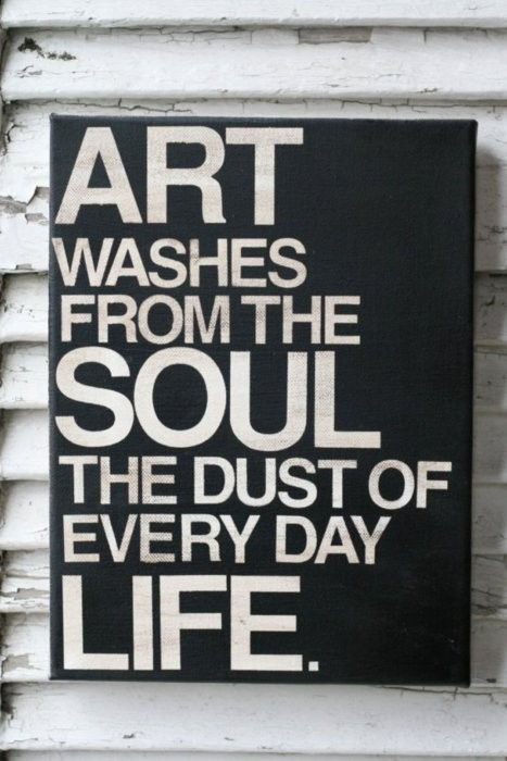 "curious-nonsense:  ""Art washes away from the soul the dust of everyday life."" - Pablo Picasso"