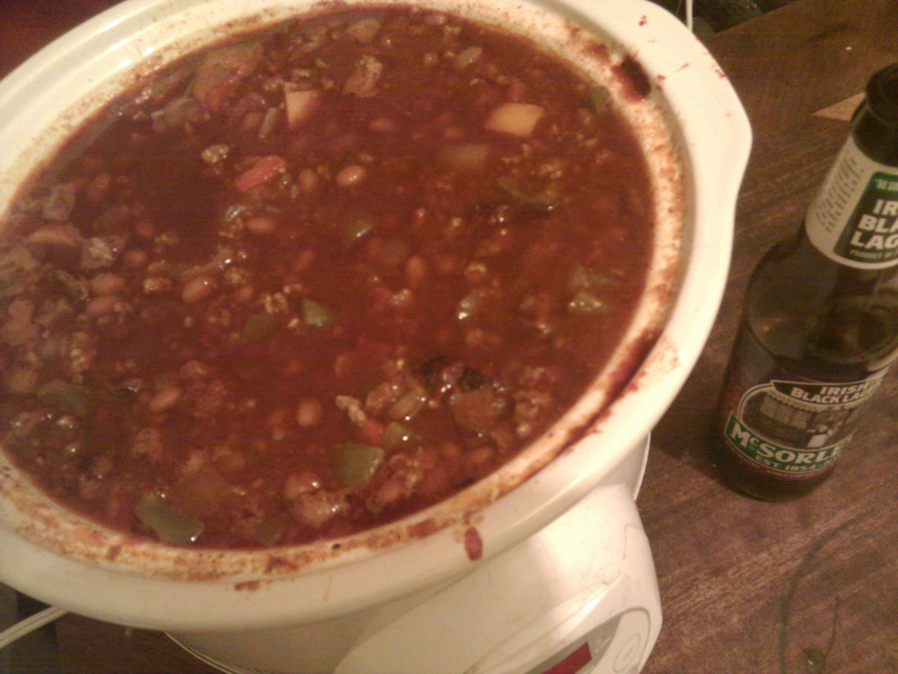 I am making a fuckload of yummy chili. wsup