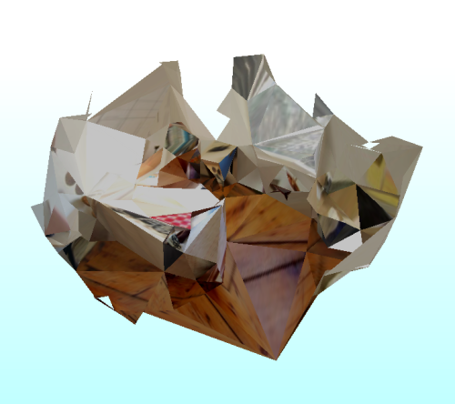 Room Collapse. Testing scanned mesh simplification w/ preservation of texture.