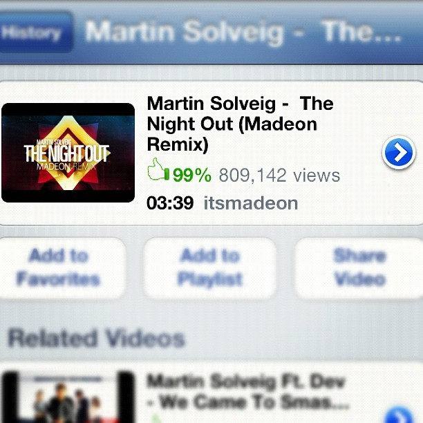Apologies for the hiatus, but Madeon's remix of The Night Out takes #trackoftheday! #groovyasfuck #doesntgetold #toogood @itsmadeon @msolveig (Taken with instagram)