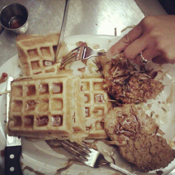 #chickenandwaffles (Taken with instagram)