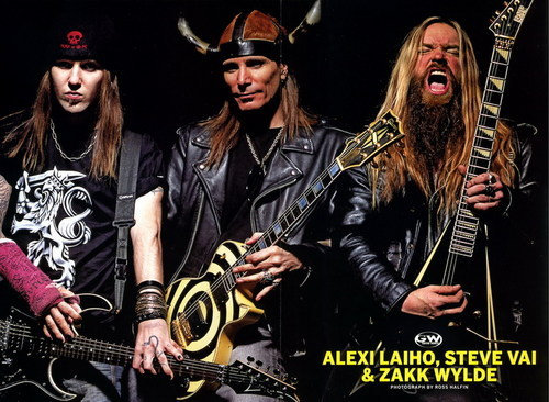 Zakk Wylde > Alexi Laiho > Steve Vai, sorry guys, I don't like how Steve Vai plays