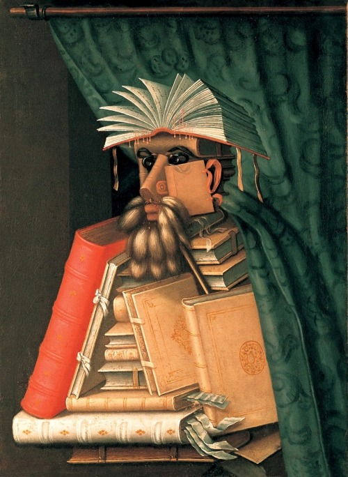 Giuseppe Arcimboldo, The Librarian (1566) | When I first saw this image, I thought it must have been something from the early 20th century.