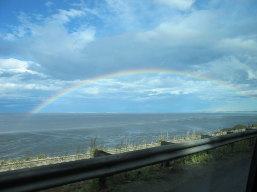 Half a rainbow over Anchorage Bay - Alaska