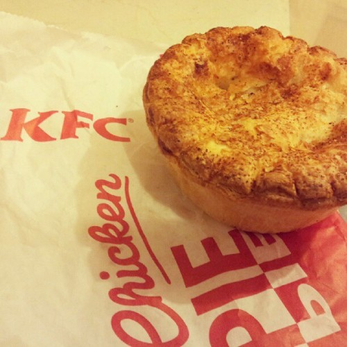 That's right… it's the long awaited KFC pie! (Taken with instagram)