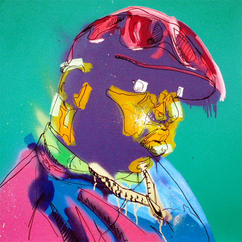 missladymillz:  Biggie  Art work by Rowan Newton