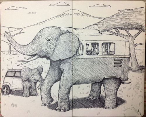 pencilfury:  Ele-mini and ele-van. Or Kombiphant. Your choice.