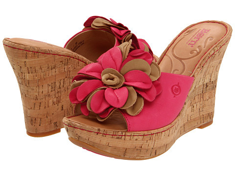 I love these pink wedge Lovina sandals by Born!