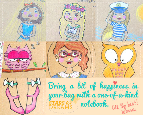 Stars for Dreams notebooks are ready to go with you to school or work!