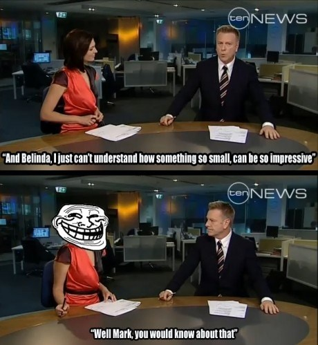 13memes:  Trolling on TV pipcr:  Grab a napkin homie, you just got served