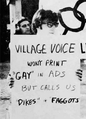 "Village Voice won't print ""Gay"" in ads But Calls Us ""Dikes"" & ""Faggots"""