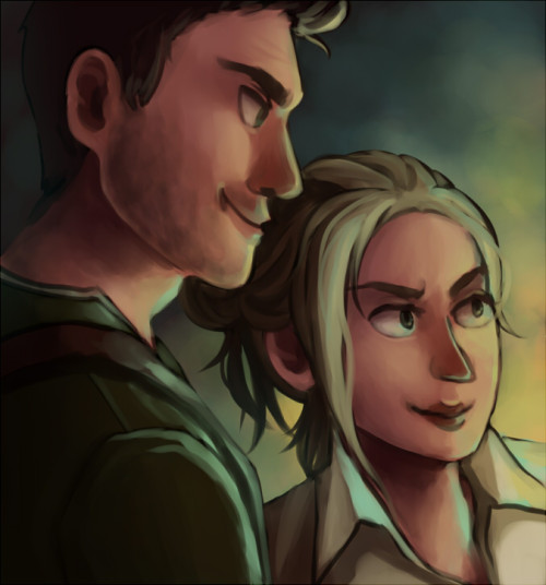 bishton:  Nathan and Elena speedpaint