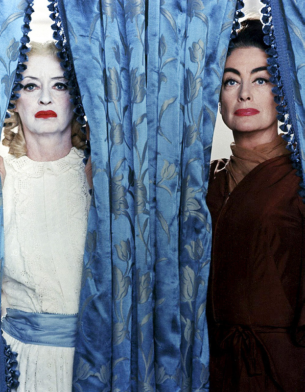 thisisnodream:  Bette Davis and Joan Crawford in a publicity still for What Ever Happened to Baby Jane?, 1962.