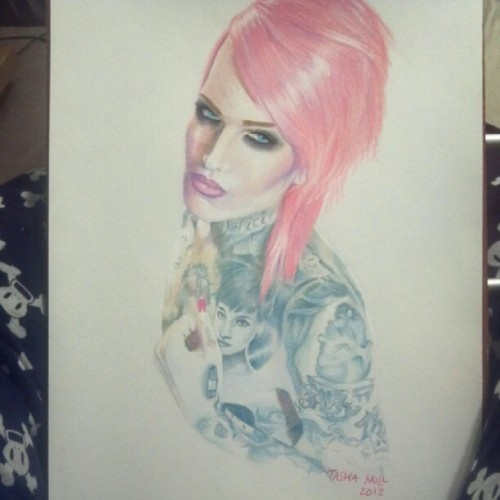 Finished drawing..#art #drawing @jeffreestar #jeffreestar #coloredpencil #gelpen #pen #bicpen #tattoo #tattoos  (Taken with instagram)