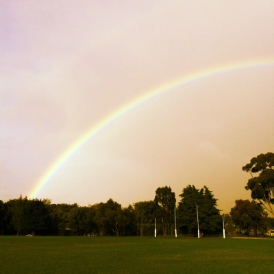 The rainbow after my game today; it made me happy :)