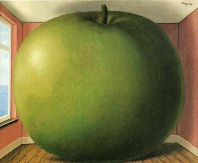 soulhospital:  The Listening Room - René Magritte, 1952. Belgian Surrealism - Oil on canvas, 45 x 55 cm. Belongs to the Menil Collection, Houston, Texas.