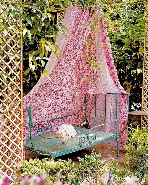 daybed in the garden