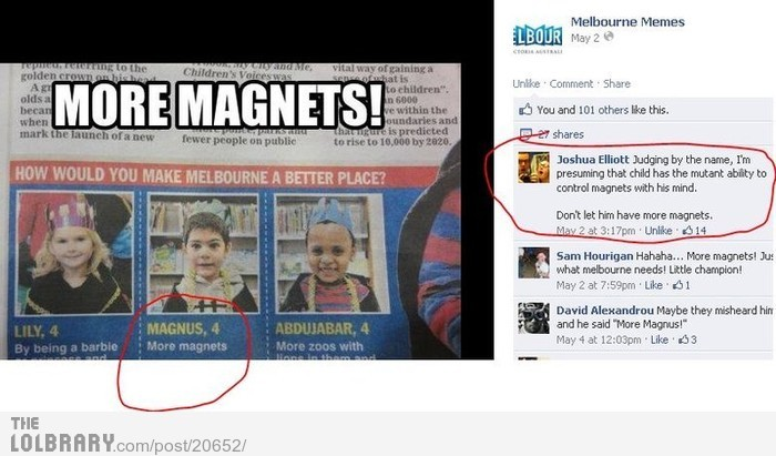 More Magnets!Follow this blog for the best new funny pictures every day