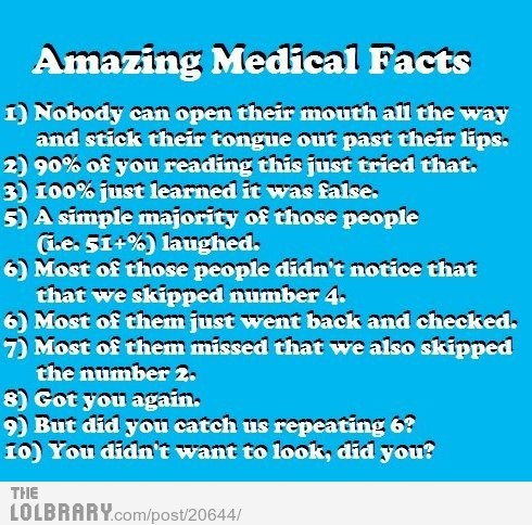 Amazing Medical FactsFollow this blog for the best new funny pictures every day