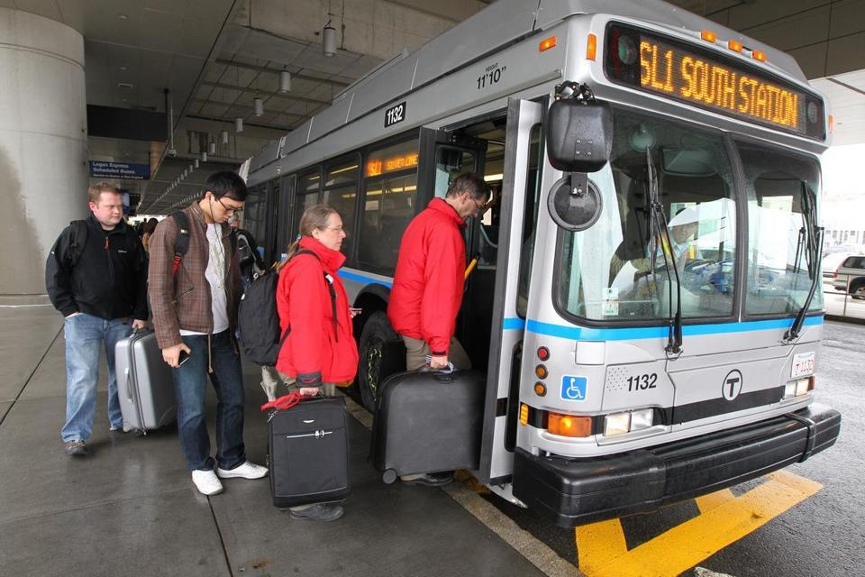 MBTA to give free rides from airport  Passengers taking Silver Line buses from Logan will ride for free starting Wednesday, a move that also means free transfers to the subway system at South Station.