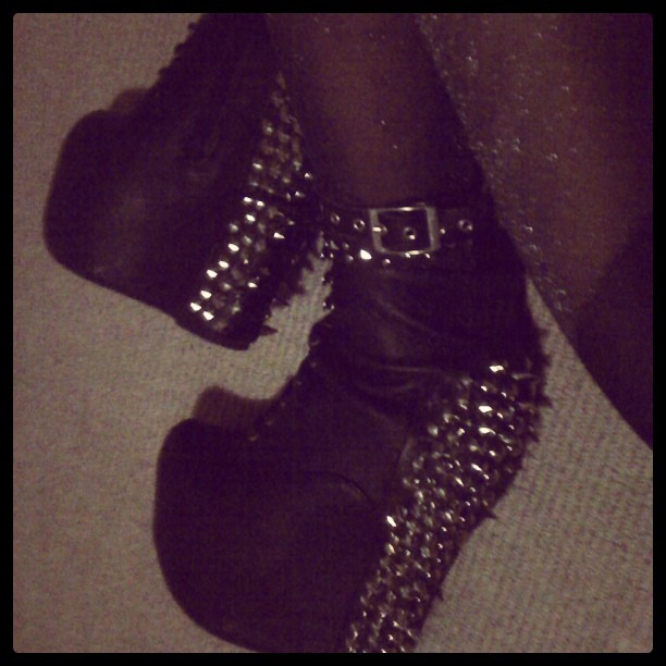 #spikeddamsels #jeffreycampbell #studweeklulus  (Taken with instagram)