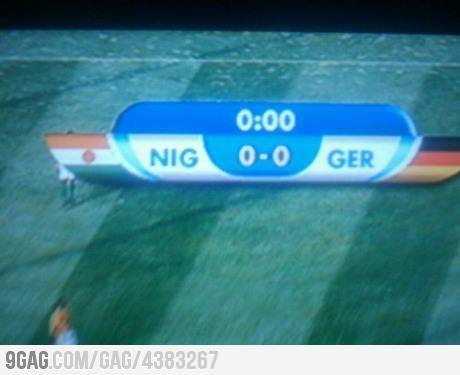 9gag:  When Nigeria plays against Germany