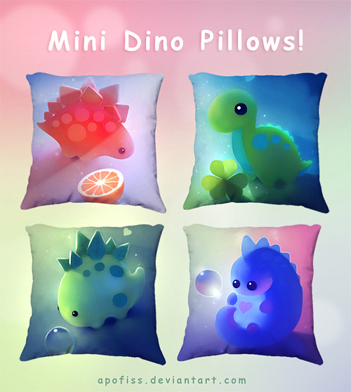 mini dino pillow covers! click image to get one!