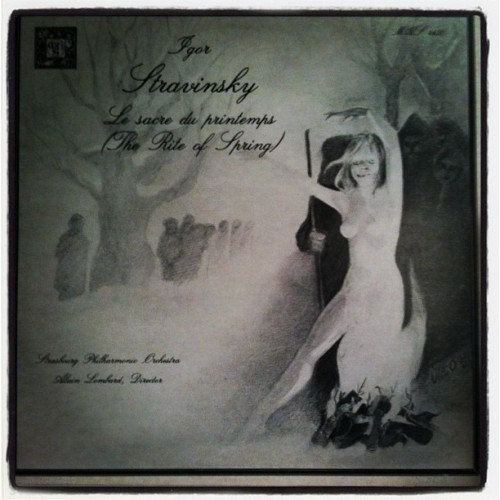 Intense cover art on this Stravinsky LP (Taken with instagram)