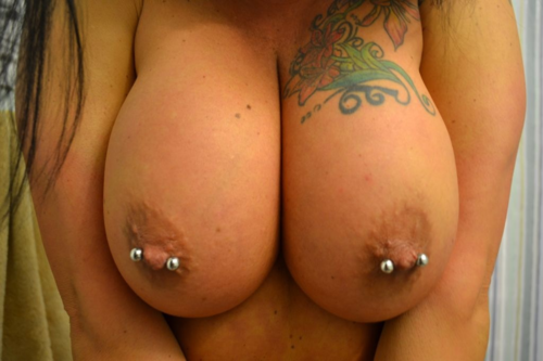 thejaguarr:  Sunday Night Pierced Titties: Ample & Decorated Edition