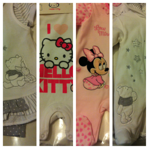 Some of the cute clotheys I have waiting for my little baby girl to wear. Cnt wait till your here!  P.ting x