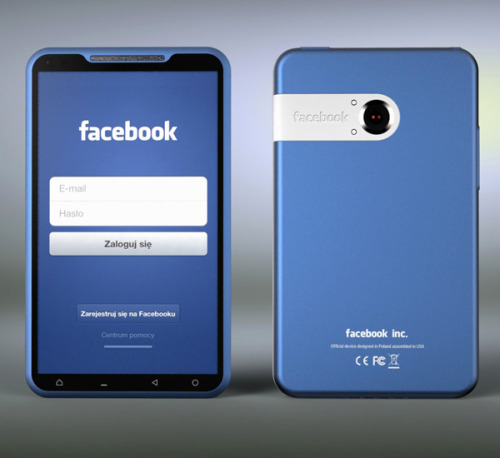 wiwam:  Bluephone Facebook Phone Concept by Michal Bonikowski » Yanko Design