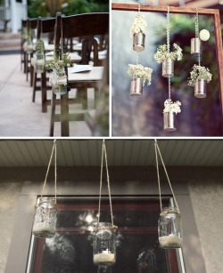 Simple hanging wedding decoration ideas