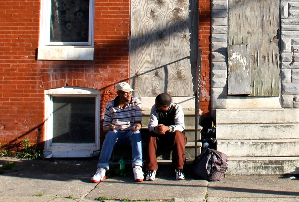 Stoop storytelling. Baltimore.