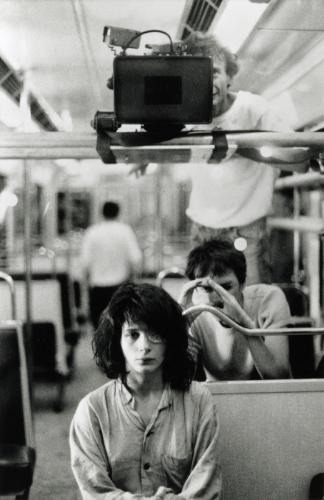 josefksays:  Leos Carax and Juliette Binoche filming Les Amants Du Pont Neuf