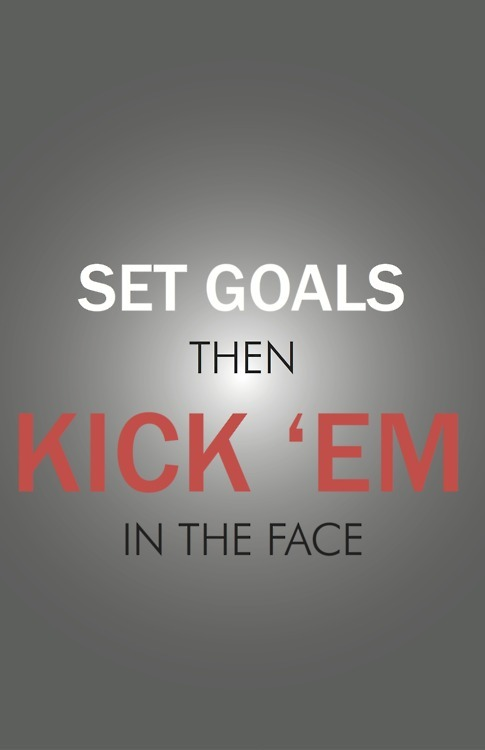 SET Goals Then Kick' Em in The Face